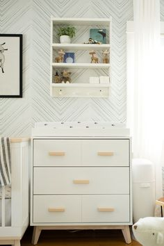 Guest Room to Scandinavian Inspired Nursery Makeover