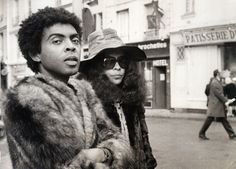 Brazilian singers Gilberto Gil and Gal Costa in Europe during the political exile of Gilberto Gil and Caetano Veloso, 1970s