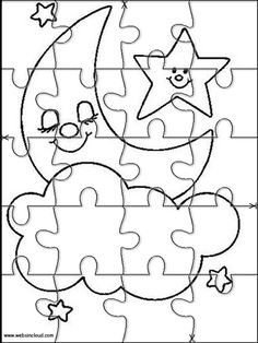 Printable jigsaw puzzles to cut out for kids Space 37 Coloring