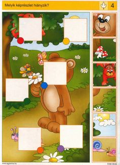 Disons EST ICI logico PRIMO Piccolo et change-Chat discussion fermeture… Preschool Learning Activities, Baby Learning, Preschool Worksheets, Preschool Activities, Activities For Kids, Cognitive Activities, Picture Puzzles, Puzzles For Kids, Kids Education