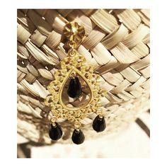 Onyx earrings silver gold plated jewelry #antoniakarra