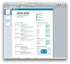 Contemporary Resume Template  Resume Template Ideas  Info