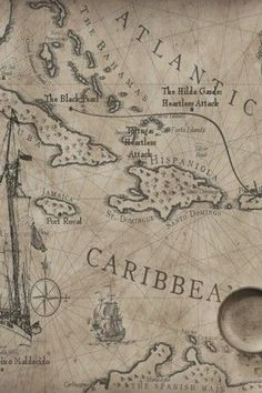 the antique maps Vintage Maps, Antique Maps, Golden Age Of Piracy, Elizabeth Swann, Black Sails, Pirate Life, Old Maps, Pirates Of The Caribbean, Tattoo Sleeves