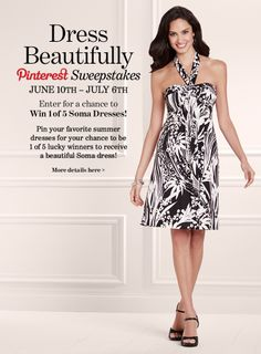 Enter for a chance to WIN 1 of 5 Soma Dresses! Soma Sweepstakes #SomaSweepstakes