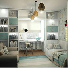 142 top sun room design ideas for relaxing room - page 13 Bedroom Layouts, Bedroom Themes, Bedroom Decor, Kids Room Design, Home Office Design, Girl Bedroom Designs, Girls Bedroom, Trendy Bedroom, Guest Room Office