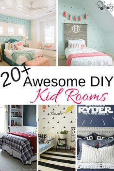 20+ Awesome and colorful DIY kid rooms with lots of fun ideas!