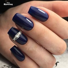 and Beautiful Nail Art Designs I like this colour. Not necessarily the bling Fabulous Nails, Gorgeous Nails, Pretty Nails, Nail Swag, Green Nails, Blue Nails, The Art Of Nails, Nagel Hacks, Modern Nails