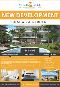 Guadaiza Gardens is a new project of apartments and penthouses located in Nueva Andalucía, only 10 minutes from Puerto Banús, in a quiet and pleasant area.