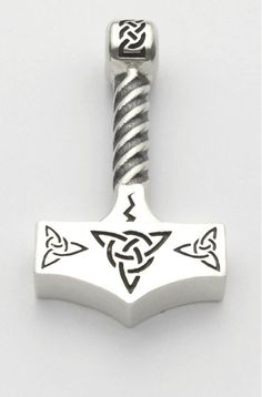 Sterling Silver Thor Hammer This pendant is over 21 grams of Sterling Silver, make sure you have a nice strong chain. Thor Hammer Tattoo, Thor Tattoo, Norse Tattoo, Escudo Viking, Gladiator Tattoo, Mjolnir Pendant, Viking Designs, Viking Art, Viking Jewelry