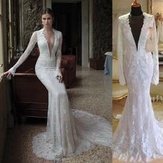 Wedding Wear For Bride | Backless wedding, Chapel train and Lace ...