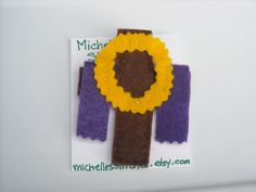 Cross with Crown of Thorns Felt Brooch by michellesstitches on Etsy
