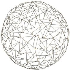 Arteriors Marlina Small Sculpture ($119) ❤ liked on Polyvore featuring home, home decor, fillers, backgrounds, circle, decor, doodles, text, borders and quotes