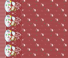 christmasfantasy fabric by frostedfleurdelis on Spoonflower - custom fabric #christmas #lolita #holiday
