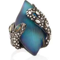 Alexis Bittar Crystal Lace Snake Ring ($192) ❤ liked on Polyvore featuring jewelry, rings, coiled snake ring, crystal jewelry, alexis bittar jewelry, crystal stone jewelry and swarovski crystal jewelry