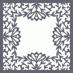 Silhouette Design Store - View Design #78331: flower and vines page border 12x12