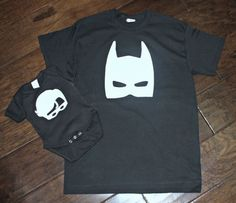 a9be1529c Batman and Robin Matching Dad and Son Shirts - New Baby, Father and Son  Set, Father's Day, Sidekick, Birthday, Superhero Onesie set