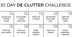 Challenge: How to De-Clutter Your Home in 30 Days