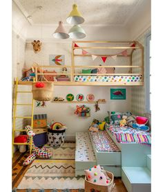 Playroom Design: Do It Yourself Playroom with Rock Wall Surface. 30 Incredible Kids Playroom Ideas - Home Decor