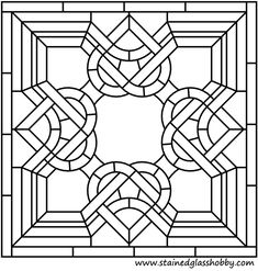 Square stained glass pattern