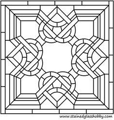 Keltischer Knoten-Platz Buntglas-Panel 3