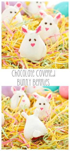 Chocolate Covered Strawberry Bunnies | From: sweetpeaskitchen.com