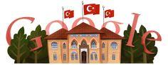 Republic Day Turkey 2012 [День республики Турция] /This doodle was shown: 29.10.2012 /Countries, in which doodle was shown: Cyprus, Turkey