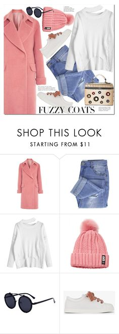 """Keep it Cozy: Fuzzy Coats"" by duma-duma ❤ liked on Polyvore featuring Topshop, Taya, Fendi, Diophy and fuzzycoats"