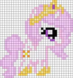 Filly Celestia My Little Pony Perler Bead Pattern / Bead Sprite