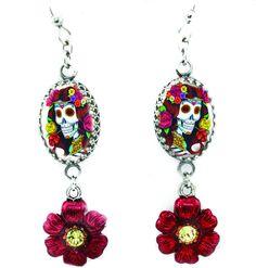 Day of the Dead Crystal Earrings - Blackberry Designs Jewelry