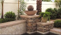 same fountain on a pillar