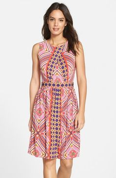 Gabby Skye Graphic Print Jersey Fit & Flare Dress available at #Nordstrom