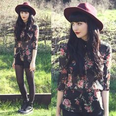 This whole outfit!!! Kayleigh B - Floral Chiffon Shirt - Fade Into The Sun