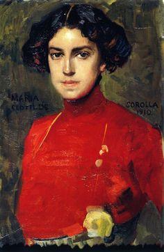 Maria in a Red Blouse - Joaquin Sorolla i Bastida 1910 Spanish 1863-1923 Impressionism