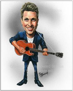 Johnny Reid Limited Edition Celebrity Caricature Art Print by Don Howard by DonHowardStudios on Etsy