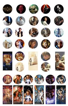 Folie du Jour: Star Wars - bottle cap and dominoes