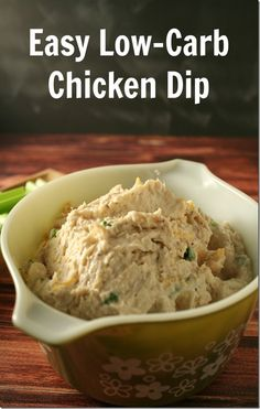 Easy Low-Carb Chicken Dip - YoursAndMineAreOurs.com - #AppetizerWeek #Anolon @Anolon Gourmet Cookware