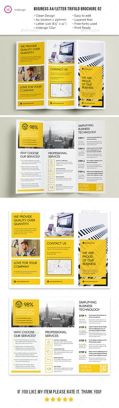 Clean Business A4 / Letter Trifold 02 - #Corporate #Brochures Download here:  https://graphicriver.net/item/clean-business-a4-letter-trifold-02/20191637?ref=alena994
