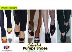 Color-block Pumps #Shoes Trend for Fall Winter 2014 #Fall2014 #FW2014 #Colorblock #Trends