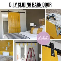 Old door into sliding door. We found an old door today; Diy Sliding Barn Door, Sliding Doors, Front Doors, Barn Door Designs, Old Doors, Barn Doors, Home Projects, Diy Furniture, Diy Home Decor