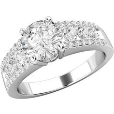 A breathtaking Round Brilliant Cut diamond ring in 18ct white gold by TheGemDiva on Etsy https://www.etsy.com/listing/237444345/a-breathtaking-round-brilliant-cut