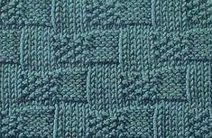Every Saturday I will share with you a new stitch. Today& stitch is: Basket Weave Moss Stitch. A beautiful basket weave stitch wit. Knit Purl Stitches, Knitting Stiches, Loom Knitting, Baby Knitting, Moss Stitch, Seed Stitch, Edge Stitch, Stitch Patterns, Knitting Patterns