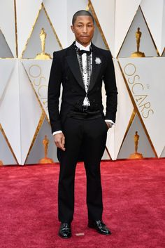 These Are the Best Looks From the Oscars Red Carpet -- BEST CASE FOR MAN JEWELRY: PHARRELL WILLIAMS:   Pharrell is taking his Chanel spokesmanship seriously. But with a tux these necklaces actually work. | coveteur.com