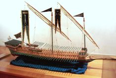 Model of one of Barbarrosa's galleys