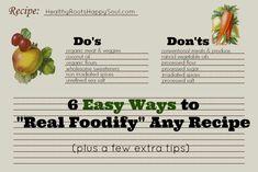 """6 Easy Ways to """"Real Foodify"""" Any Recipe"""
