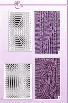 47 knitting patterns with diagrams and explanations