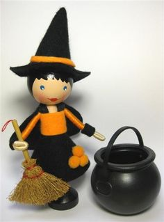 Meet The Little Halloween Witch! She is all dressed and ready for Halloween, complete with her very own hat and broomstick. With Fall underway