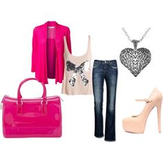 """""""Casual pink"""" by karena-woods on Polyvore Woods, Casual, Polyvore, Pink, Image, Fashion, Moda, Fashion Styles, Woodland Forest"""