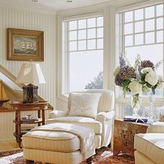 Cozy Seating Area...reading corner;  Nice picture and frame on the wall
