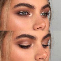Bronzed eye look - try Buriti Bronzer on lids and in inner corners of eyes