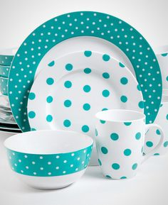 Celebrate spring with this cheery polka dot tableware.